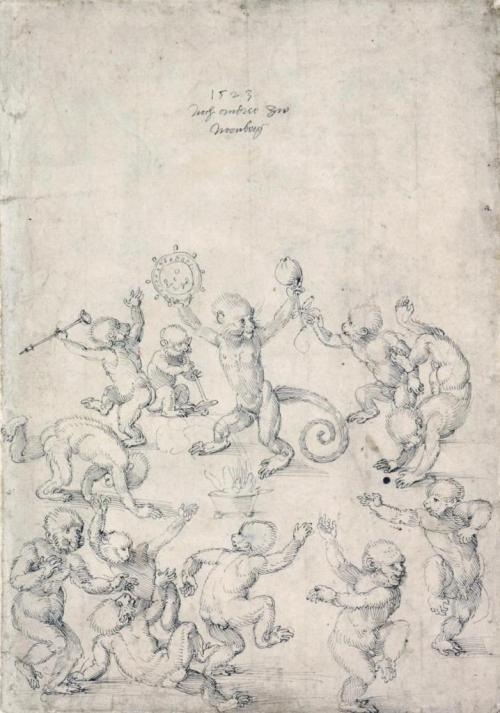 albrecht-dc3bcrer-dance-of-monkeys-1523-kunstmuseum-basel